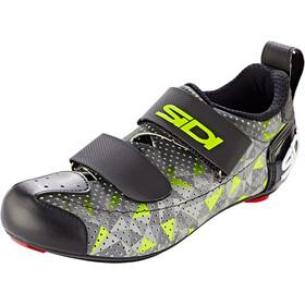 Sidi T-5 Air Carbon Schoenen Heren, grijs/geel